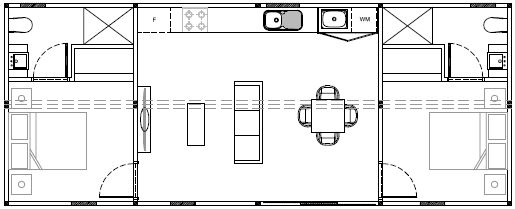 Two bed floorplan (without dimensions)